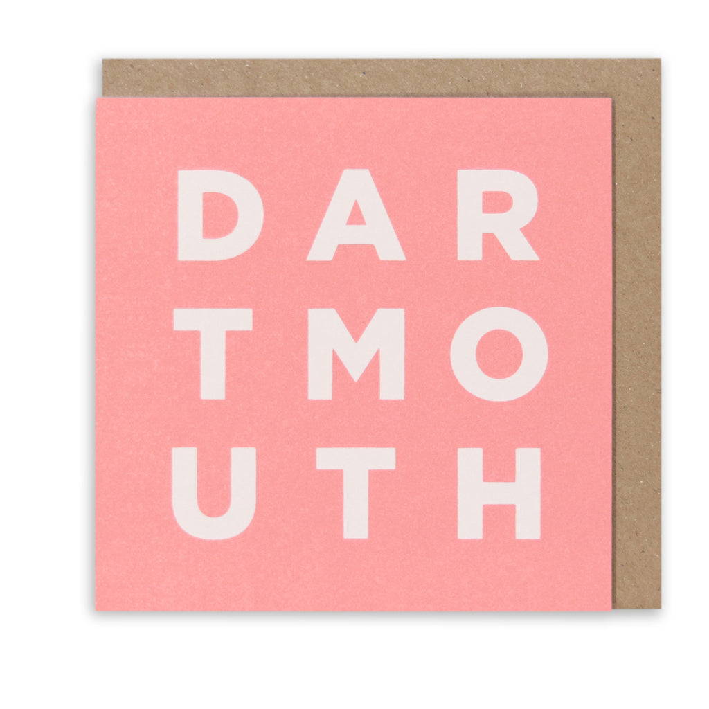 DARTMOUTH PINK GREETING CARD