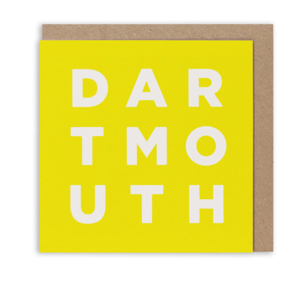 DARTMOUTH YELLOW GREETING CARD