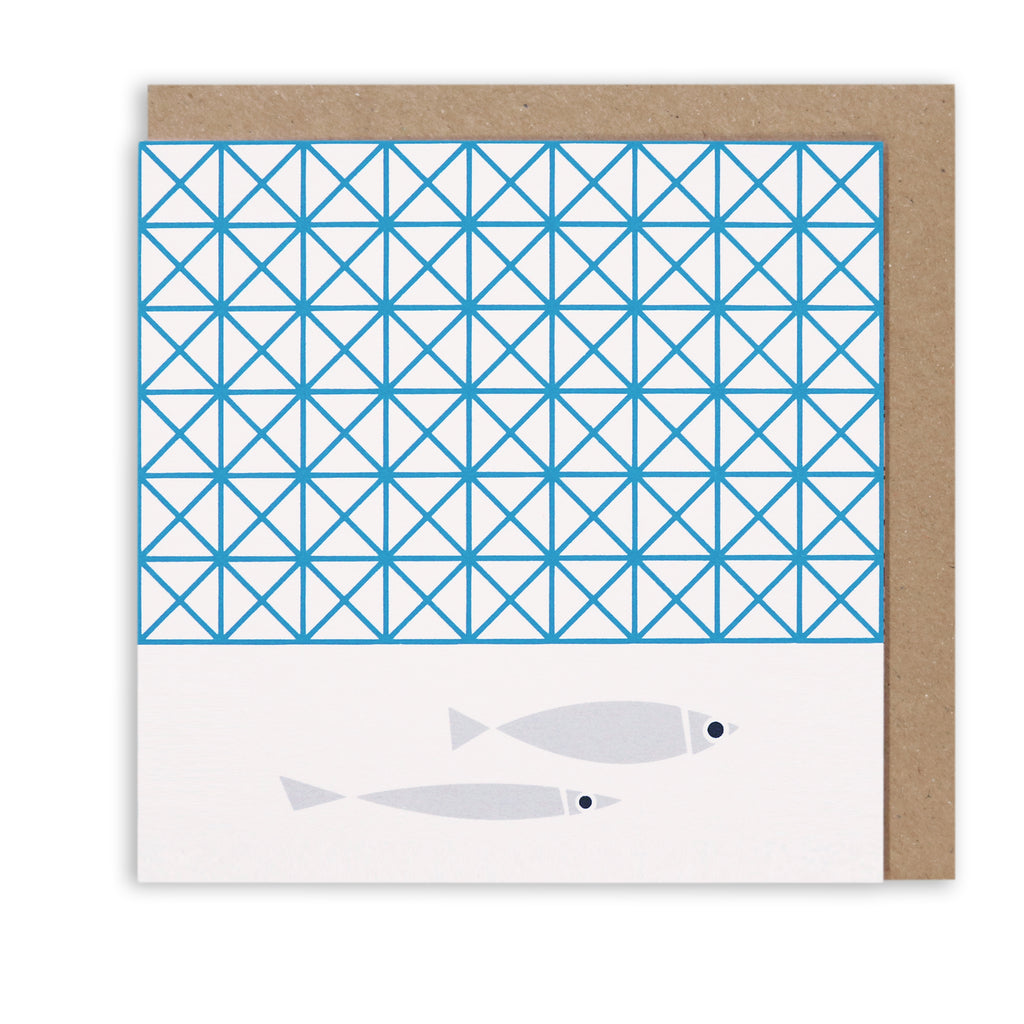 FISHY ESCAPE NAUTICAL GREETING CARD