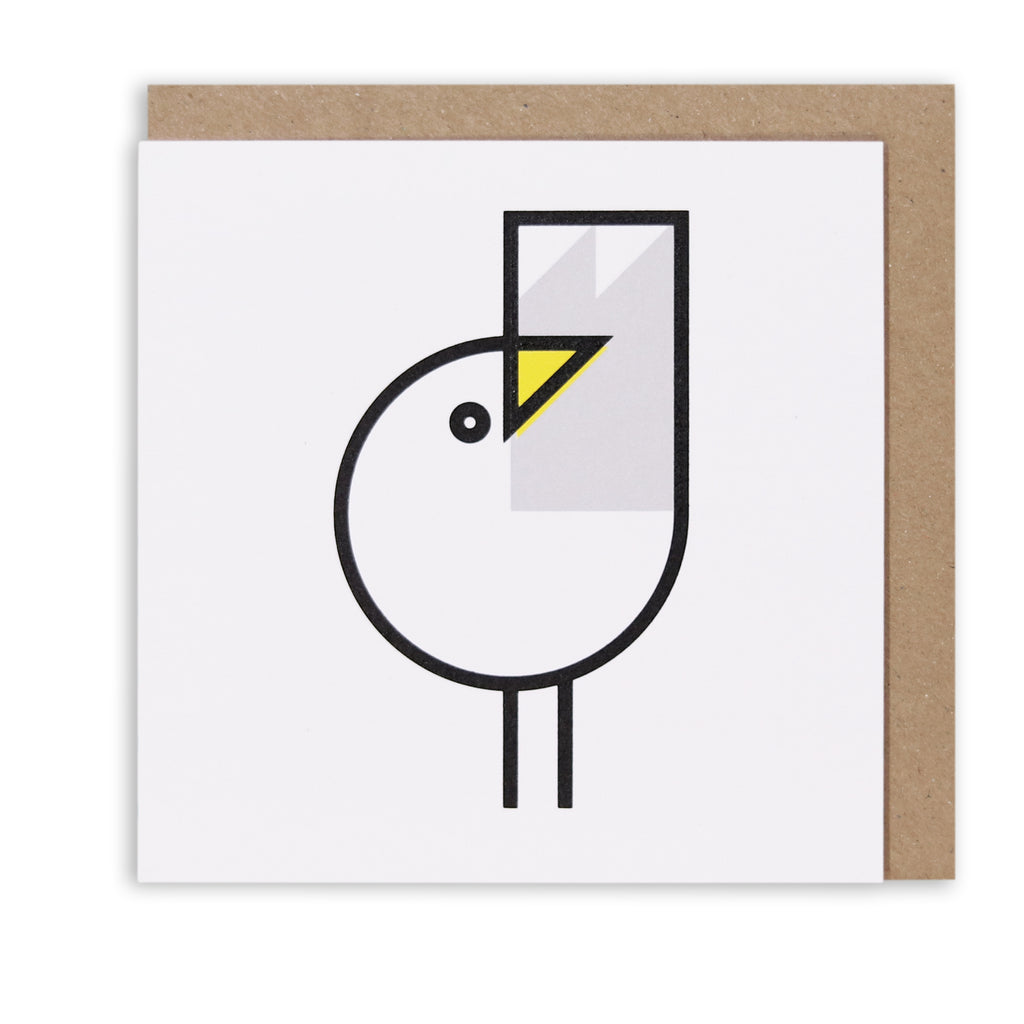 GREAT GULL GREETING CARD