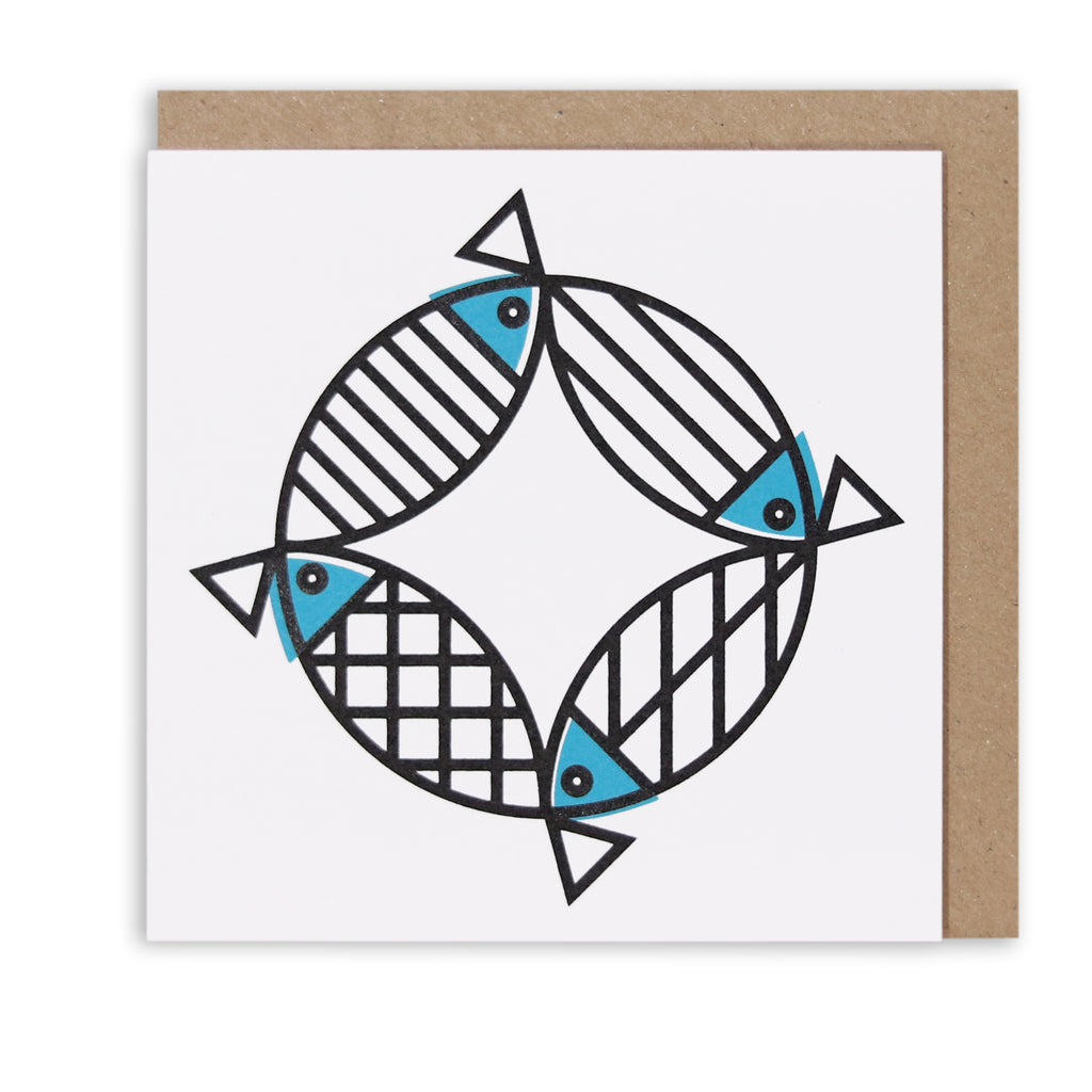 MIGHTY MACKEREL NAUTICAL GREETING CARD