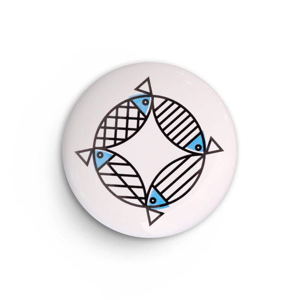 BERT & BUOY POCKET MIRROR MIGHTY MACKEREL