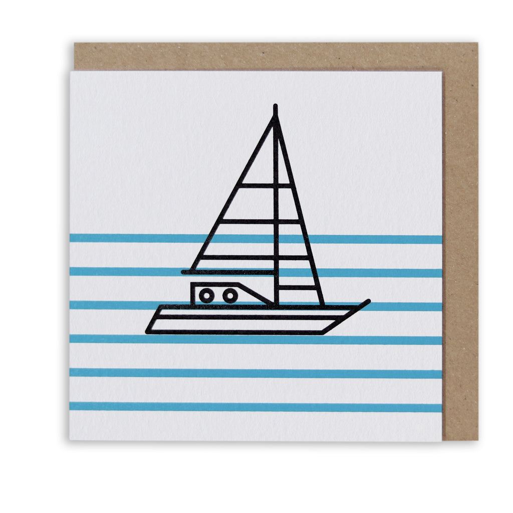 Bert & Buoy Greeting Card Ship Ahoy White