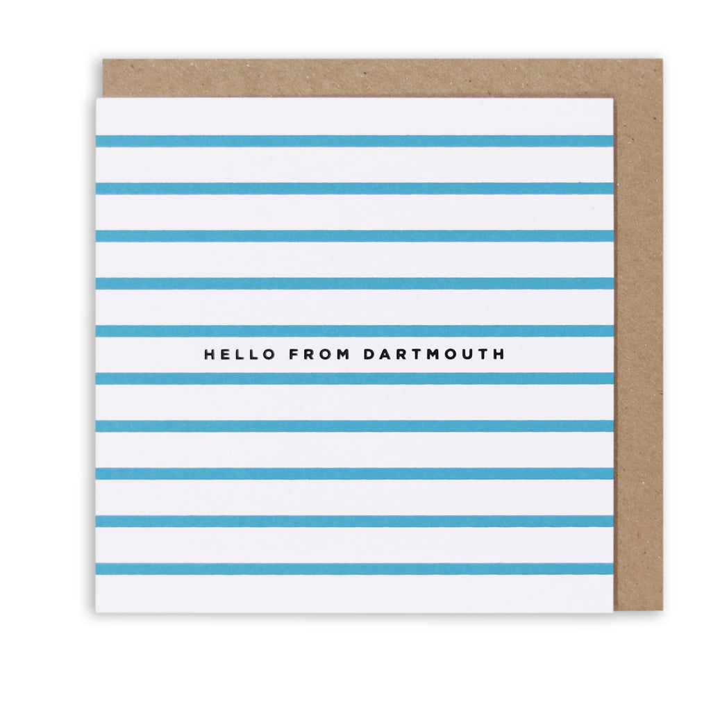 NAUTICAL STRIPES DARTMOUTH NAUTICAL GREETING CARD