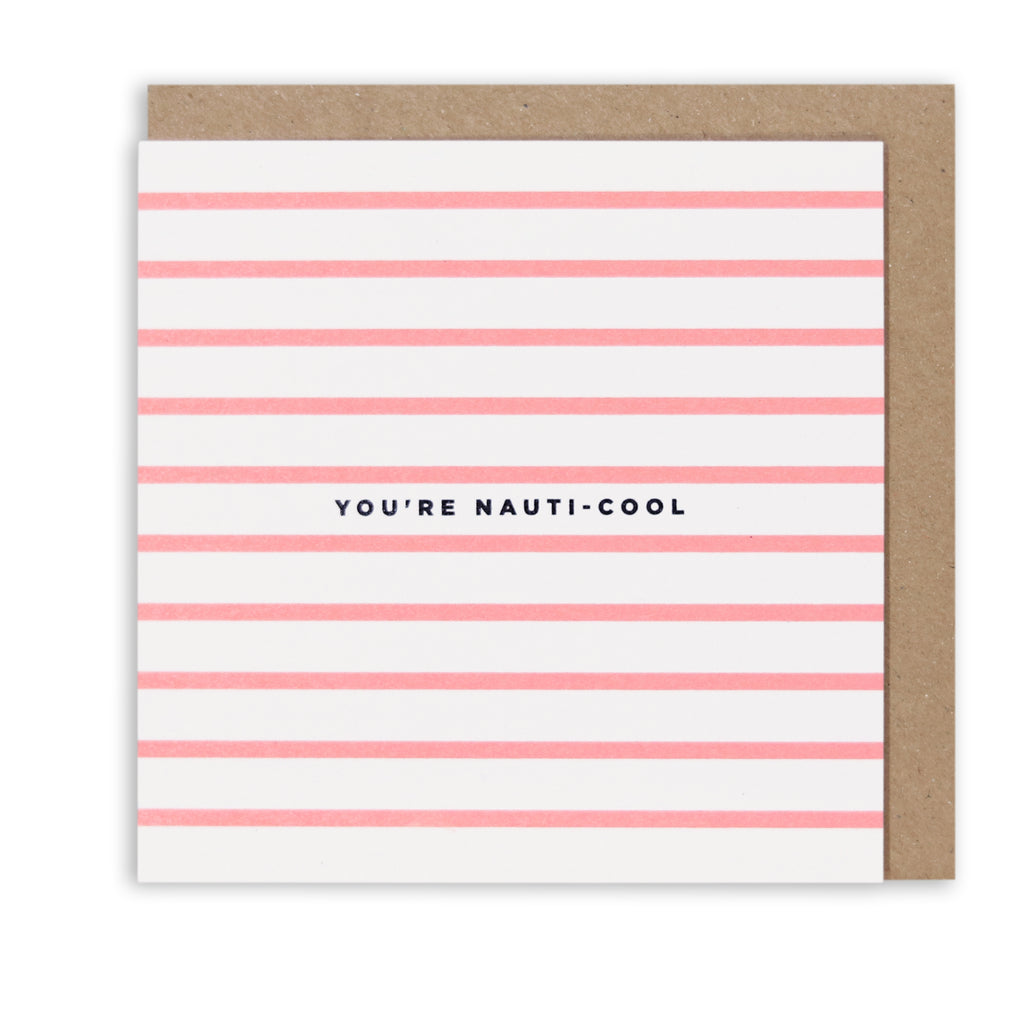 NAUTICAL STRIPES NAUTI-COOL GREETING CARD