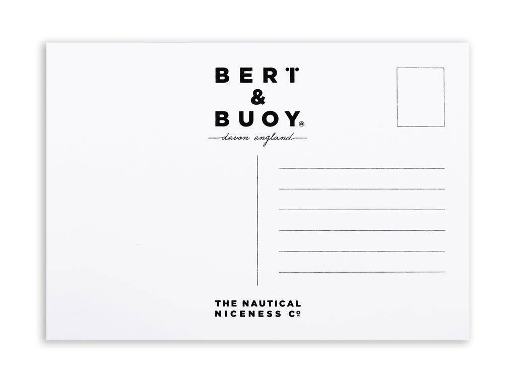 BERT & BUOY POSTCARD DARTMOUTH LON/LAT