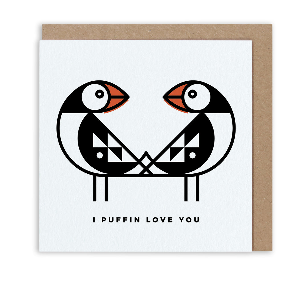 BERT & BUOY GREETING CARD I PUFFIN LOVE YOU