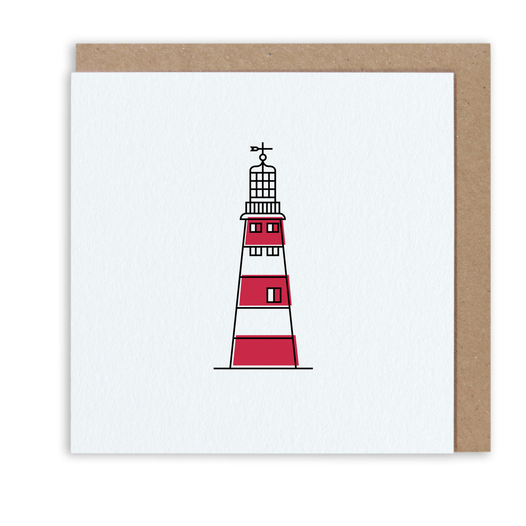 Bert & Buoy Greeting Card Plymouth Lighthouse