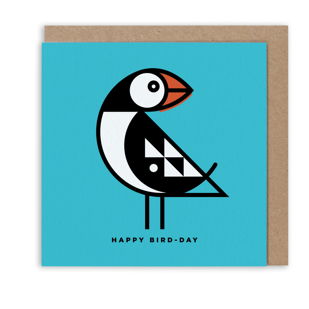 BERT & BUOY GREETING CARD PETITE PUFFIN HAPPY BIRD-DAY