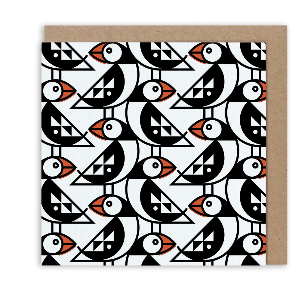 Bert & Buoy Greeting Card Petite Puffin Pattern