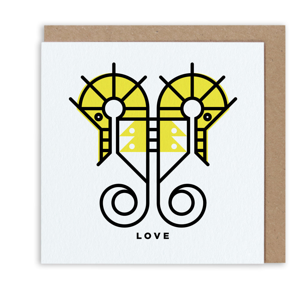 Bert & Buoy Greeting Card Southern Seahorse Love