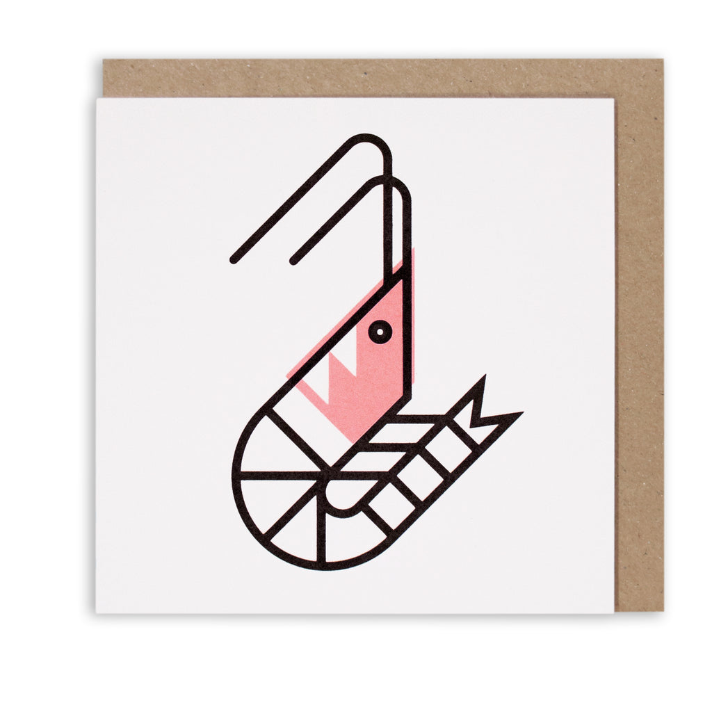 SO SHRIMP NAUTICAL GREETING CARD