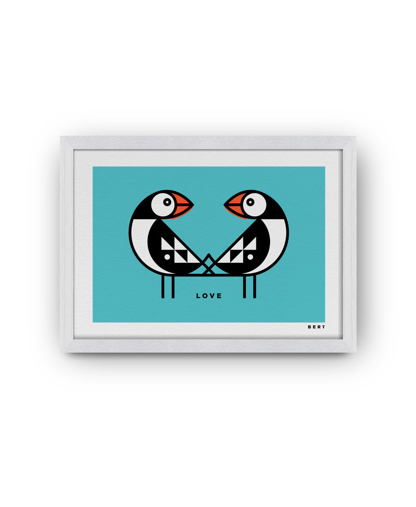 BERT & BUOY WALL ART | PETITE PUFFINS LOVE