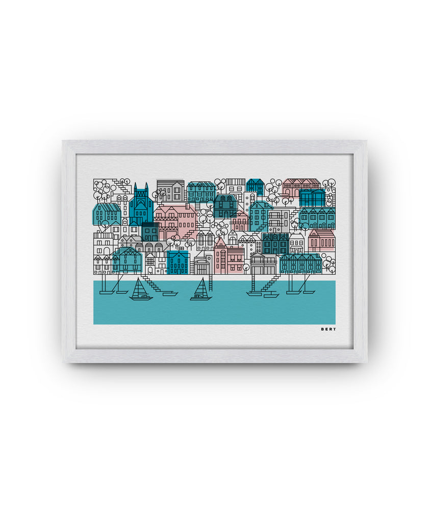 BERT & BUOY WALL ART | DARTMOUTH HOUSES LANDSCAPE