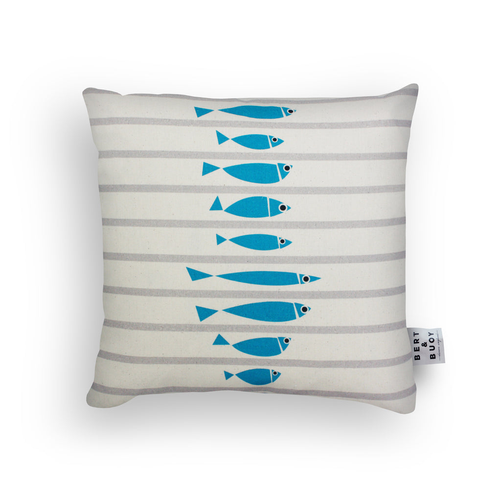 FISHY BLUE LINE-UP CUSHIONS