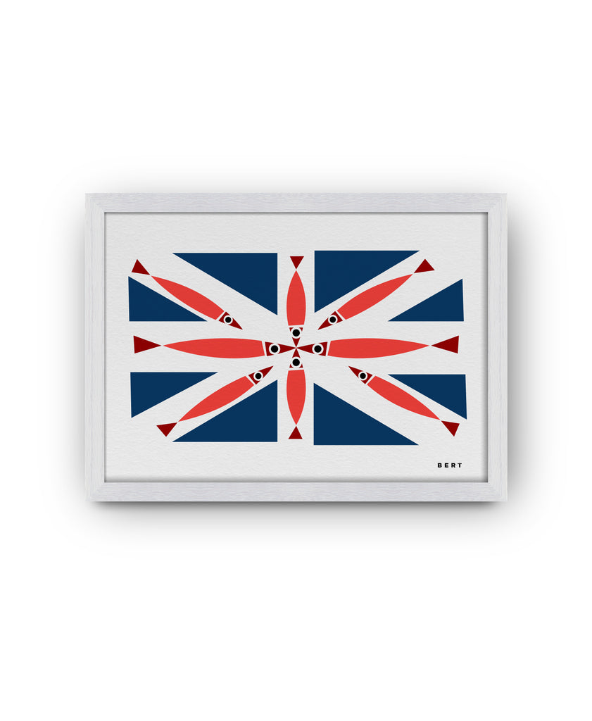 BERT & BUOY WALL ART | FISHY UNION JACK *LIMITED EDITION*