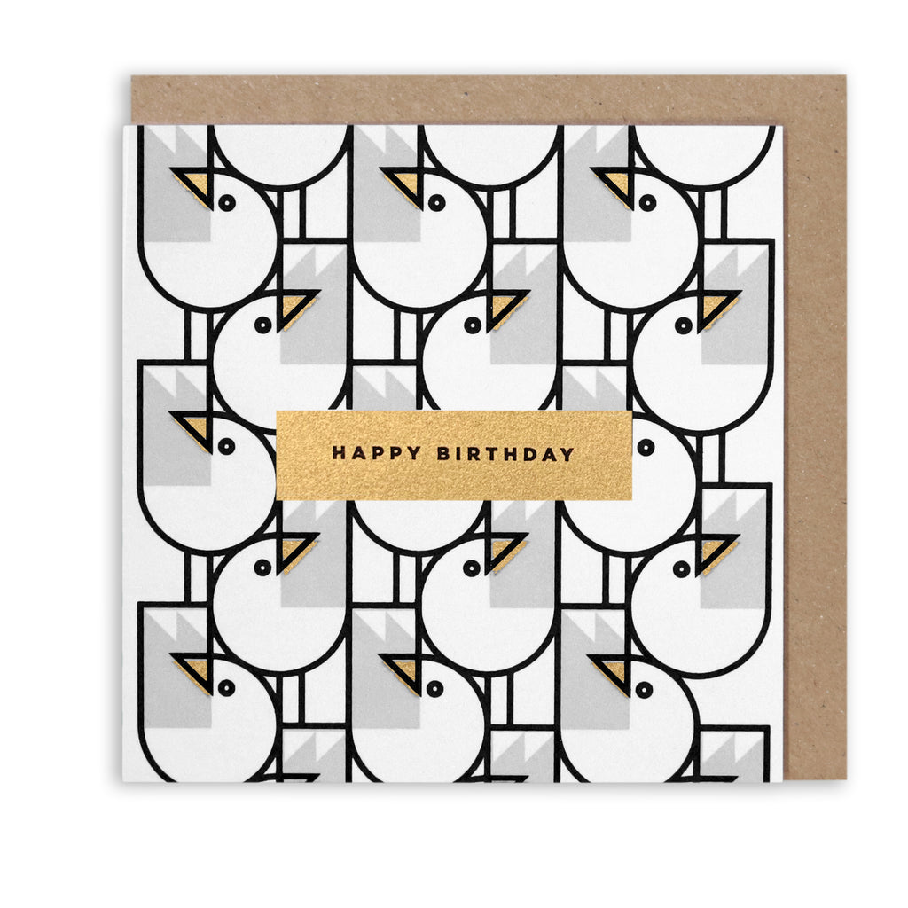 BERT & BUOY GREETING CARD GREAT GULL HAPPY BIRTHDAY GOLD