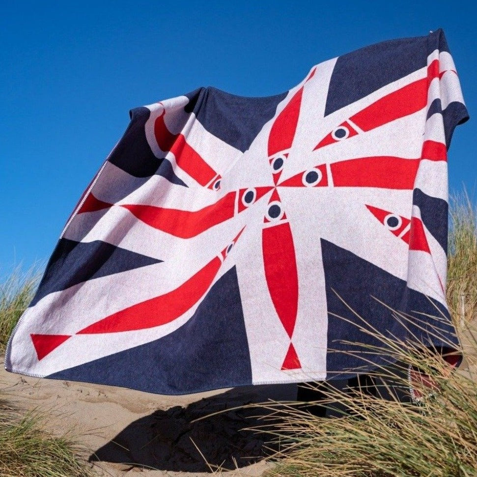 Bert & Buoy Blanket Throw Fishy Union Jack