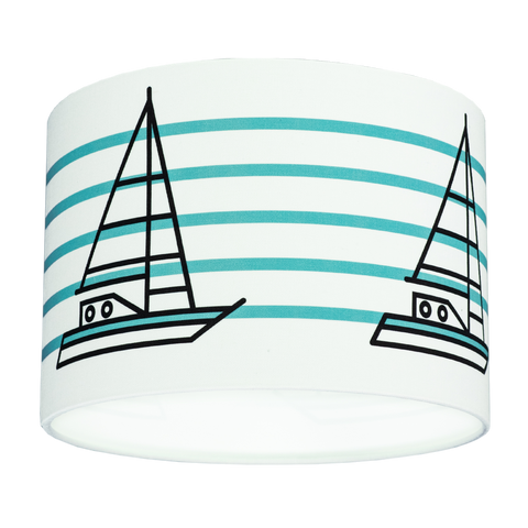 SHIP AHOY DRUM SHADE