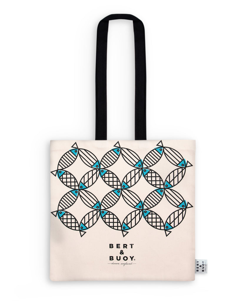 BERT & BUOY TOTE BAG MIGHTY MACKEREL
