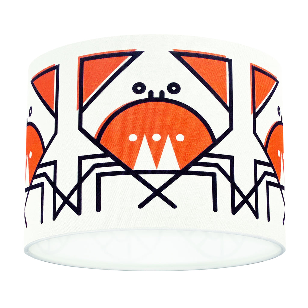 BERT & BUOY DRUM LIGHT & CEILING SHADE CUNNING CRAB