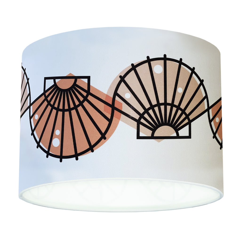 BERT & BUOY DRUM LIGHT & CEILING SHADE SCALLOP