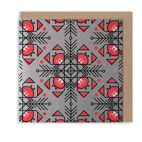 CUNNING CRAB PATTERN - LIMITED EDITION CHRISTMAS CARD