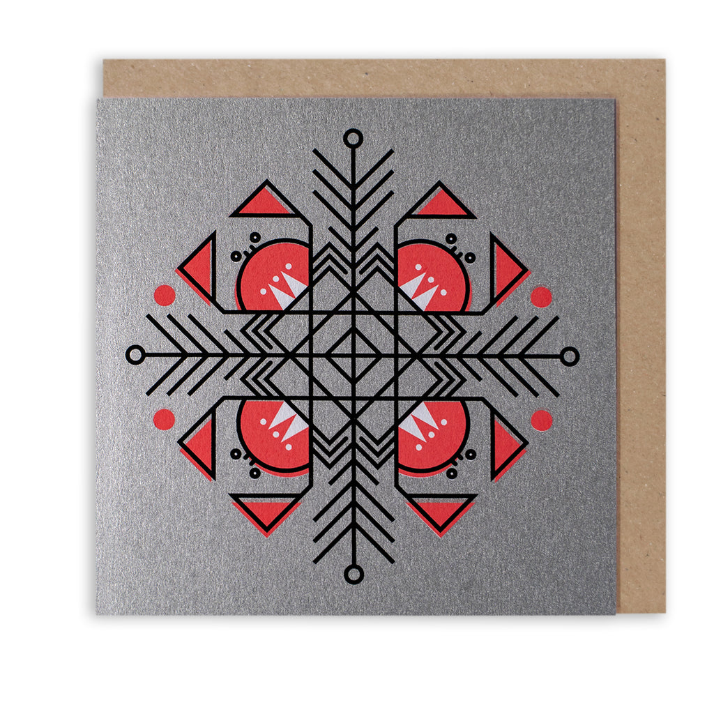 BERT & BUOY CHRISTMAS CARD CRAB SNOWFLAKE