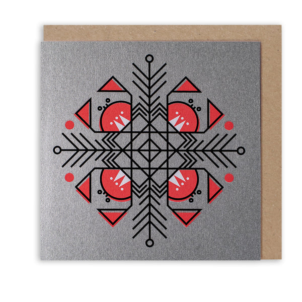 CUNNING CRAB SNOWFLAKE - LIMITED EDITION CHRISTMAS CARD