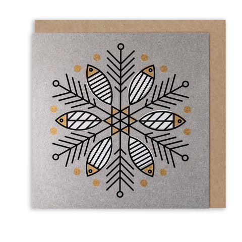 MIGHTY MACKEREL SNOWFLAKE - LIMITED EDITION CHRISTMAS CARD