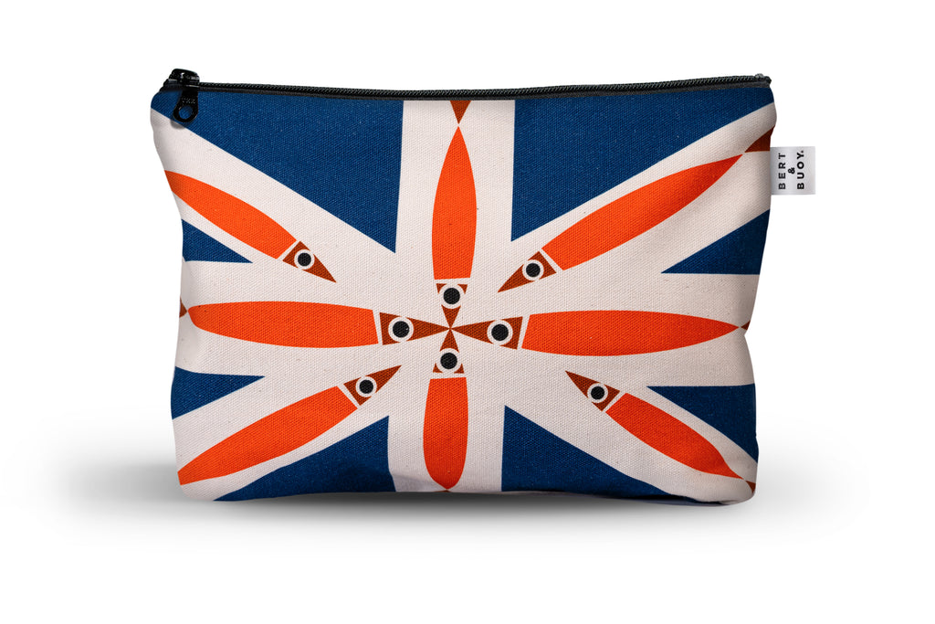 Bert & Buoy Large Wash Bag Fishy Union Jack