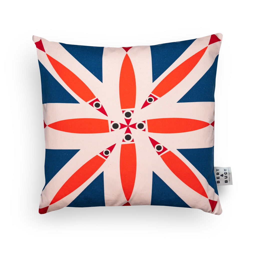 Bert & Buoy Cushion Fishy Union Jack