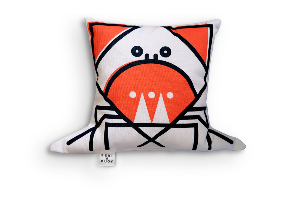 BERT & BUOY CHARACTER CUSHION CUNNING CRAB