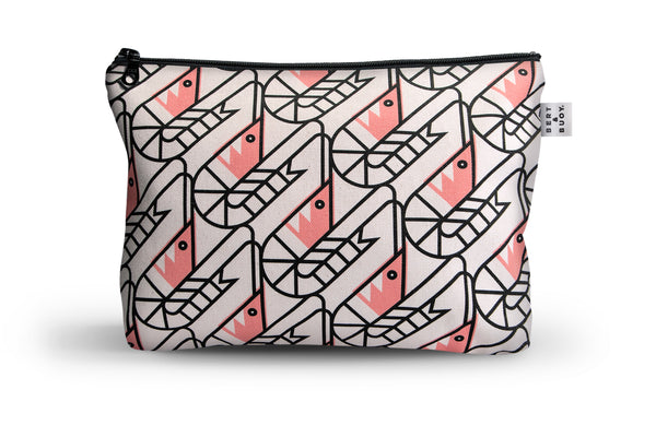 SO SHRIMP LARGE COSMETIC & WASH BAG