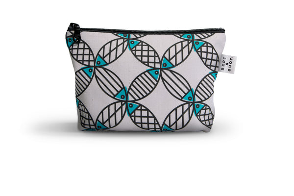 MIGHTY MACKEREL MEDIUM COSMETIC BAG