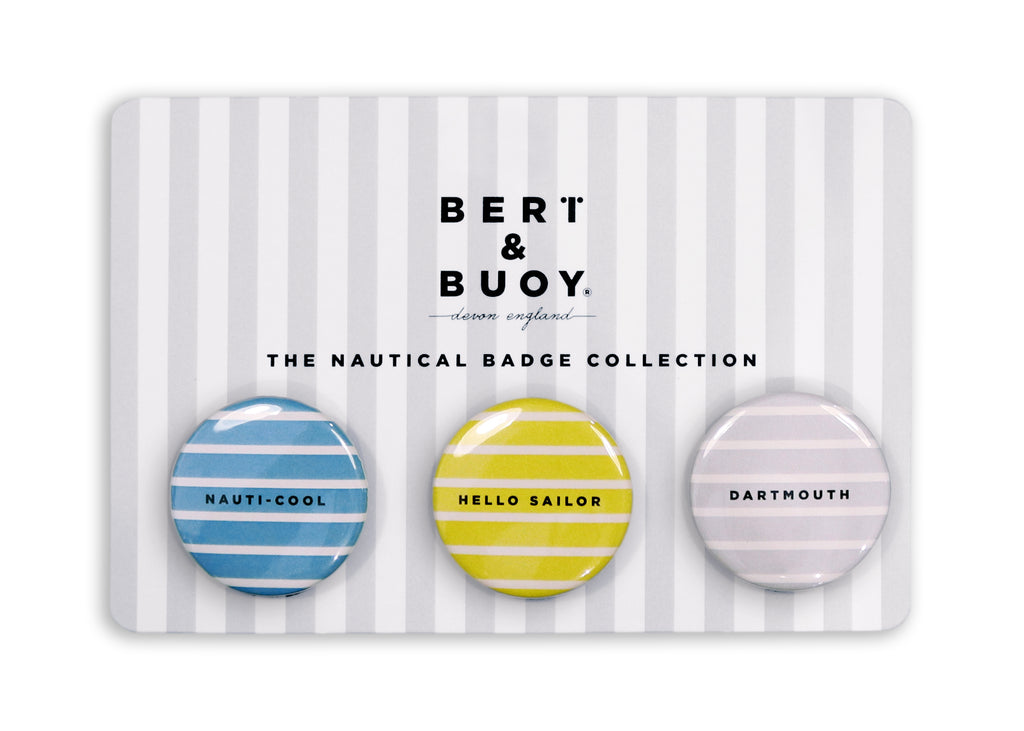 THE NAUTICAL BADGE COLLECTION: COASTAL STRIPES
