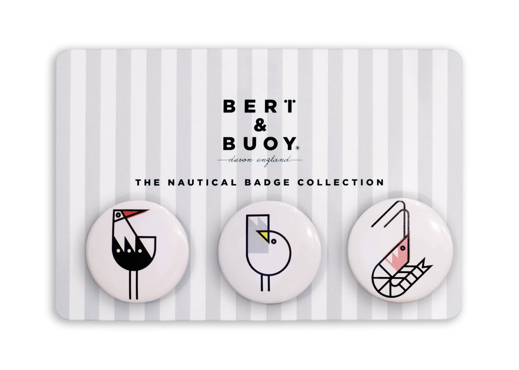 THE NAUTICAL BADGE COLLECTION: COASTAL CHARACTERS NO. 1