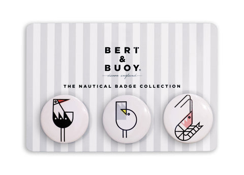 THE NAUTICAL BADGE COLLECTION: COASTAL CHARACTERS