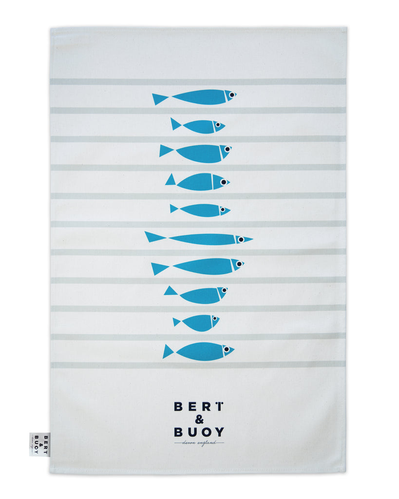 FISHY LINE-UP LARGE TEA TOWEL