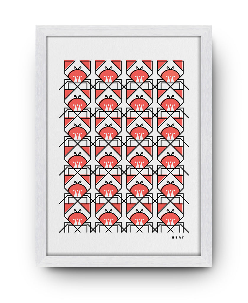 CUNNING CRAB PATTERN - ART BY BERT & BUOY