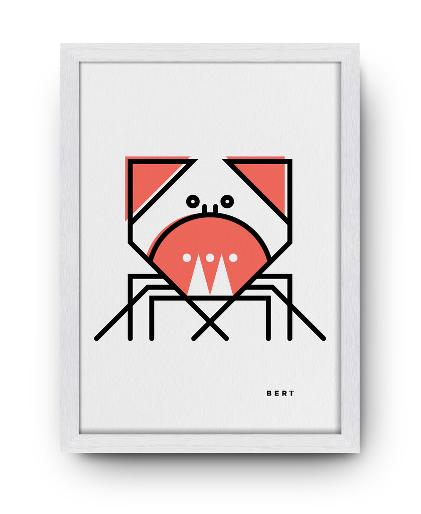 CUNNING CRAB - ART BY BERT & BUOY