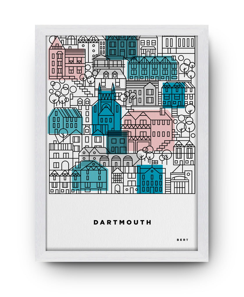DARTMOUTH HOUSES TYPE - ART BY BERT & BUOY