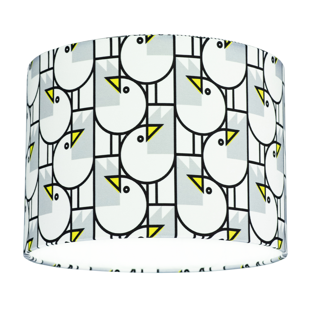 GREAT GULLS PATTERN DRUM SHADE