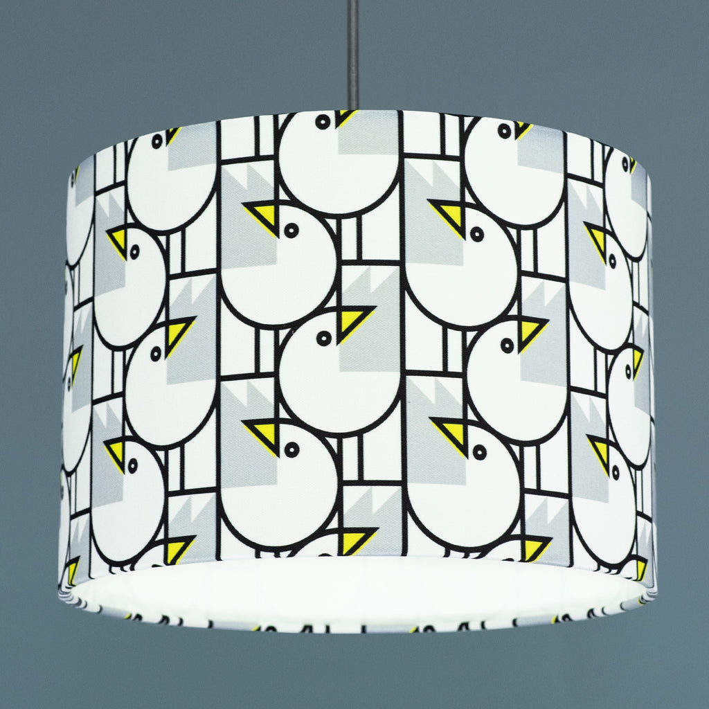 BERT & BUOY DRUM LIGHT & CEILING SHADE GREAT GULLS PATTERN