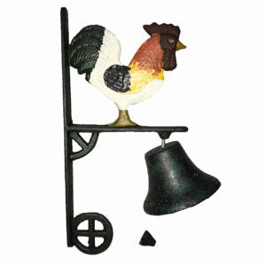 Cast Iron Rooster Hanging Outdoor Dinner Bell