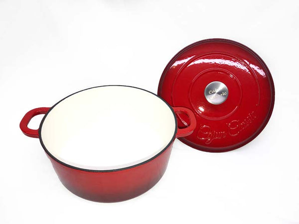 Cajun Classic 5 Qt Enamel Red Dutch Oven