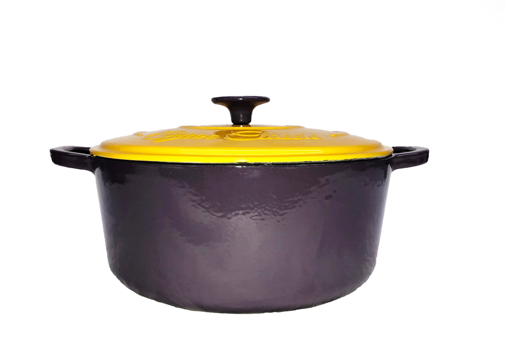 Cajun Classic 5 Qt Enamel Purple & Gold Dutch Oven