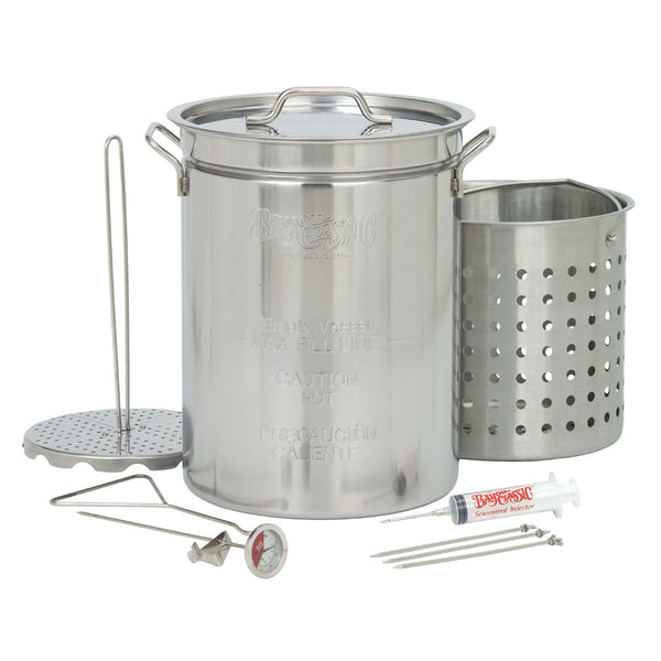 Bayou Classic Stainless Steel Turkey Fryer Pot