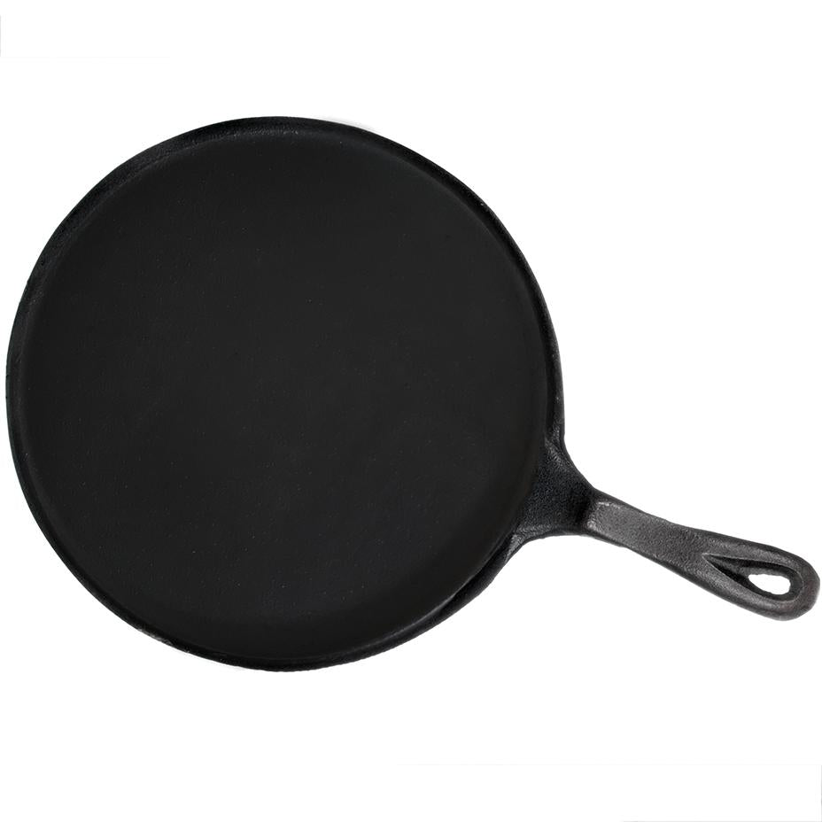 Seasoned Cast Iron Round Griddle Skillet