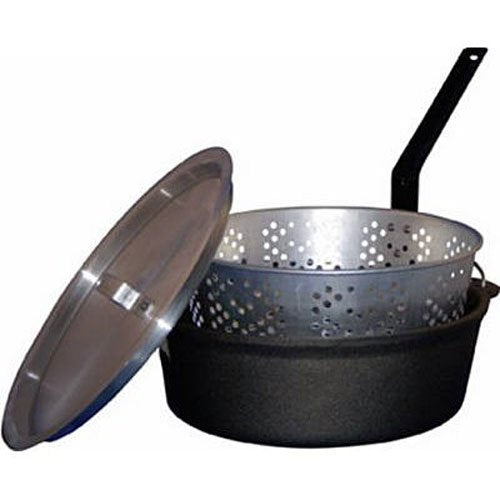 King Kook Cast Iron Fish Fry Pot 6 Quart